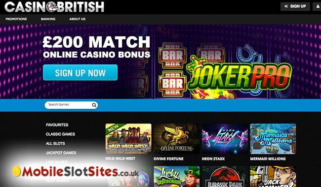 casino british mobile