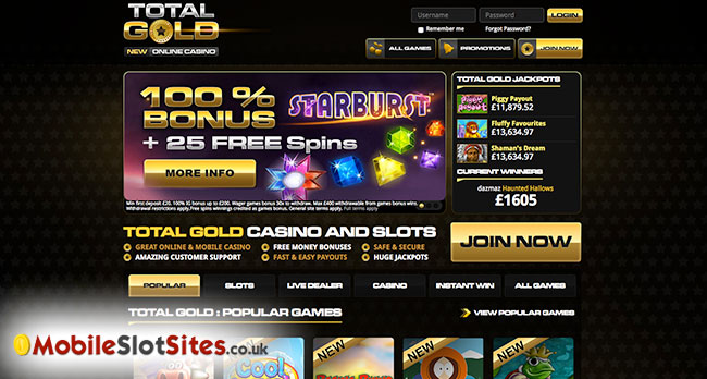 total gold casino and slots