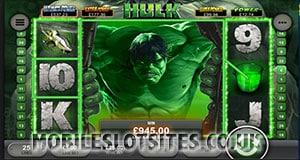 The Incredible Hulk mobile slot