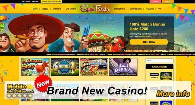 new mobile casino spin fiesta