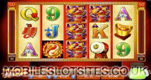Dragon line mobile slot game
