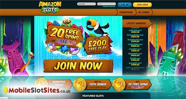 amazon slots homepage