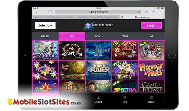glimmer casino mobile