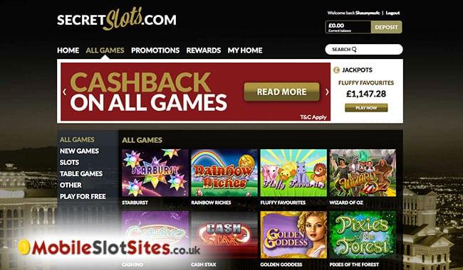 secret slots lobby