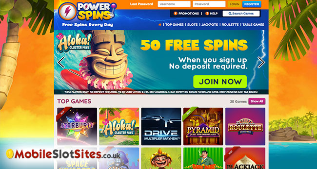 power spins slots