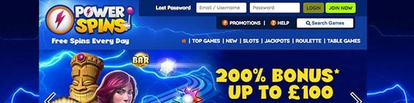 new power spins casino