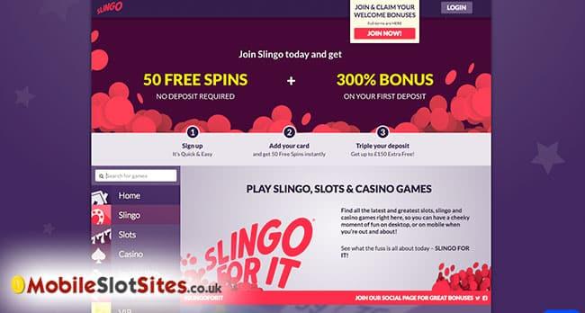 slingo mobile casino