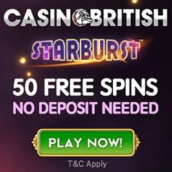 casino british 50 free spins